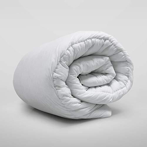 Oxford Homeware Anti Allergy Duvet 4.5 Tog Summer Cool Lightweight Quilt White Single Duvet Hollow Fiber UK Made All Seasons Duvet
