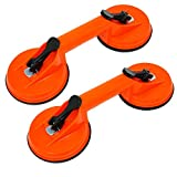 Dapetz  2 x Double Suction pad Dual Suction Cups Heavy Duty Suction Cups Glass Lifter Glass Suckers, 70kg Lifting Capacity