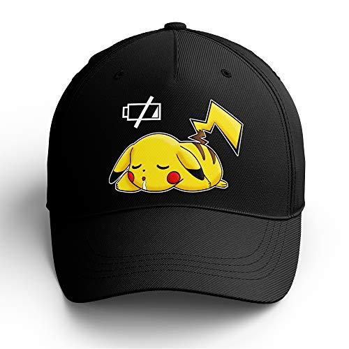 OKIWOKI Pokémon Lustiges Schwarz Kappe - Pikachu (Pokémon Parodie signiert Hochwertiges Kappe - Einheitsgröße - Ref : 586)