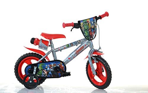 Avengers MTB 12 Pouce KIDSBIKE Boy vélo, Bicyclette, Enfant-Velo, bécane, vélocipède, Rouler en vélo, Faire du vélo Bleu stabilisateurs bidon gardeboue