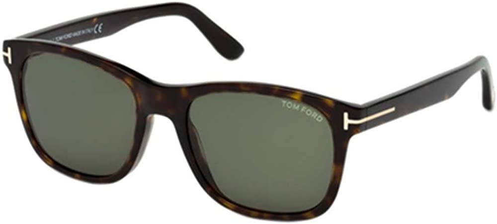 Tom Ford FT 0595 Eric Sunglasses 52N Dark Havana/Green Lens 55MM
