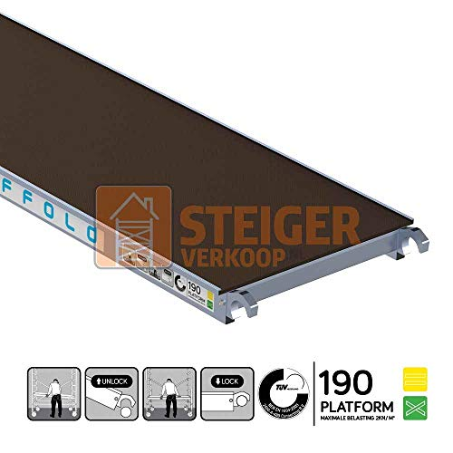 Rolsteiger platform 190 cm zonder luik
