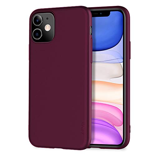 X-level für iPhone 11 Hülle, [Guardian Serie] Soft Flex TPU Hülle Superdünn Handyhülle Silikon Bumper Cover Schutz Tasche Schale Schutzhülle Kompatibel mit iPhone 11 6,1 Zoll - Weinrot