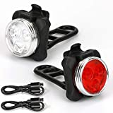 foolerba Bike Light Set,Super Bright LED Bike Light Front and Back,USB Rechargeable Bicycle