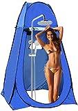 Tienda de ducha para camping, 120 x 120 x 190 cm, tienda de ducha, tienda de privacidad, camping con 2 ventanas, tienda de aseo para camping, playa, exterior, fácil configuración