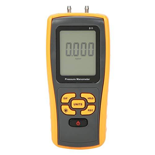 Medidor de presión, ± 10KPa Manómetro Tester Manómetro Diferencial de Mano Profesional con Retroiluminación Pantalla LCD para Medición del Sistema de Aire Condición