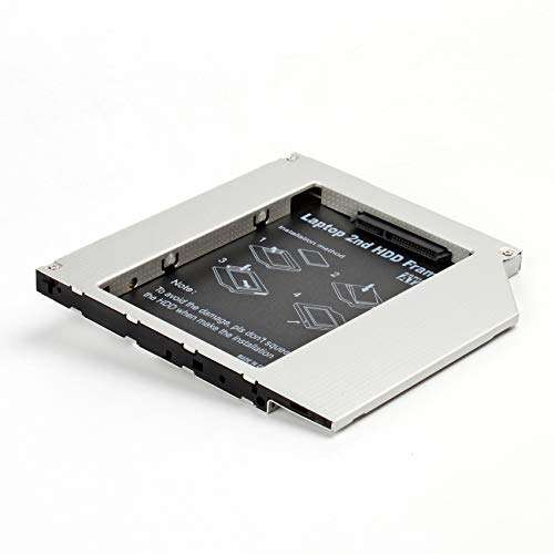 Universal Notebook Alloggiamento secondo HDD/SSD Hard Drive DVD Bay Caddy 9,0mm SATA a SATA 2.HDD ODD Caddy Adapter