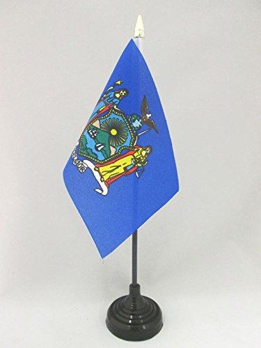 AZ FLAG TISCHFLAGGE New York 15x10cm goldene splitze - Bundesstaat New York TISCHFAHNE 10 x 15 cm - flaggen