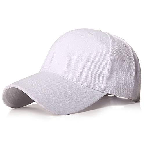 Plain Baseball Cap Frauen Männer Snapback Caps Classic Polo Style Hut Casual Sport Outdoor Verstellbare Kappe Mode Unisex-White