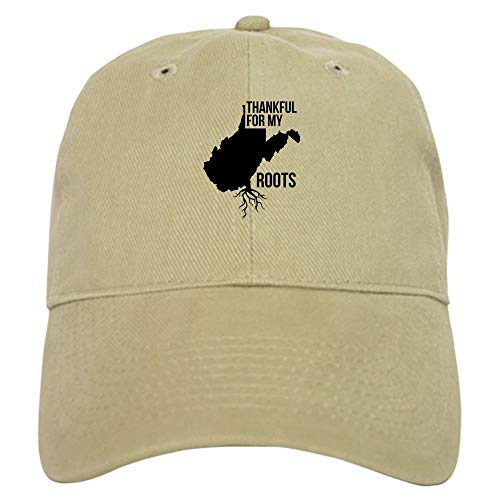 Clothing decoration West Virginia Thankful for My Roots - Baseball Cap with Adjustable Closure, Unique Printed Baseball Hat