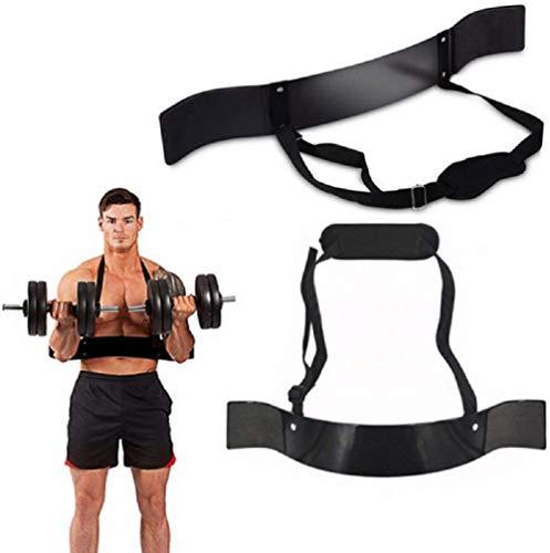 Fitness Arm Curl Blaster zum Gewichtheben Bizeps Blaster und Bizeps Curl Unterstützung für Bodybuilding Fire Team Stärker Langhantel Hantel Workouts (Schwarz, 1)
