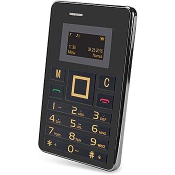 Slide Wallet Size Unlocked Mini Cell Phone Worldwide 2G GSM Service Black/Silver