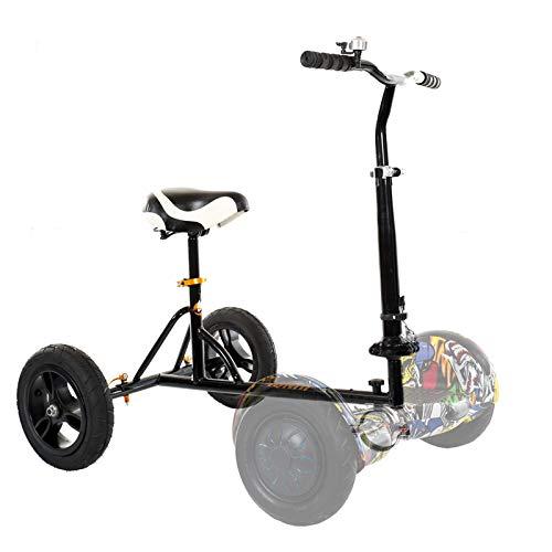 Kart Hoverboard Kit Conversione Go-Kart con Sedile Comodo Compatibile con Scooter Elettrico Autobilanciato 6,5' 8' 10' Adatto per Adulti e Bambini,Nero