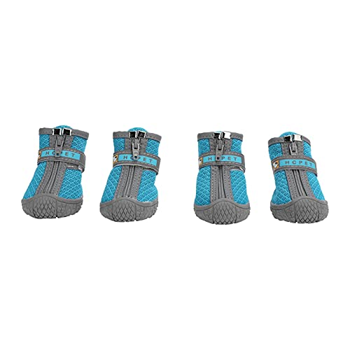 MossEle Dog Boots, Breathable Dog Shoes for Small Doggy, Waterproof Pet Sandals with Anti- Sole And Zipper Closure, Durable Pet Paw Protector for Pavement
