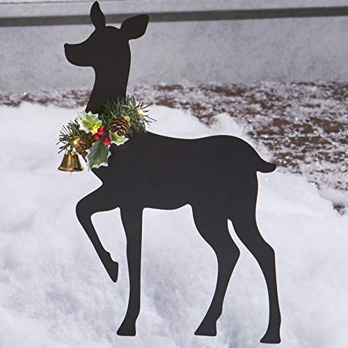 The Lakeside Collection Light Up Deer - Outdoor Christmas Décor – Doe