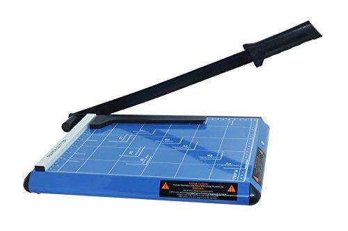 DOBO® Taglierina a leva taglia carta cutter professionale fogli con formato massimo A4 ed inferiori ghigliottina in metallo con base di lavoro centimetrata