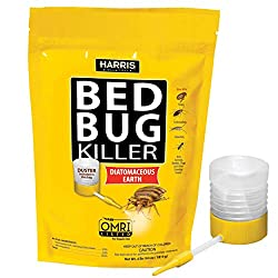 powerful HARRIS Bed Bug Killer, Diatomaceous Earth (4 lbs of rag)