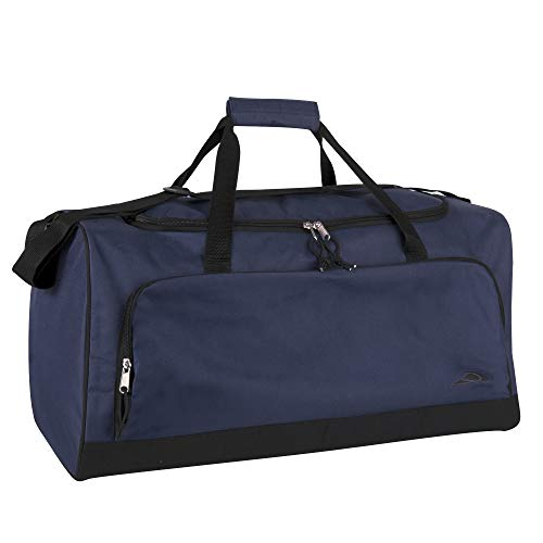 Trail maker 55 Liter, 24 Inch Lightweight Canvas Duffle Bags for Men & Women For Traveling, the Gym, and as Sports Equipment Bag/Organizer (Navy)
