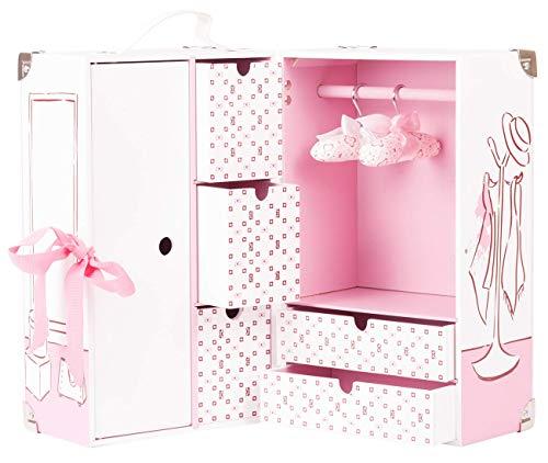 Götz 3403037 Schrankkoffer Karl für Puppen - 8-teiliges Puppenzubehör-Set für Götz Babypuppen und Stehpuppen von 30 bis 50 cm