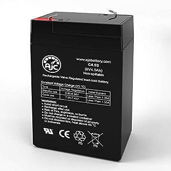 AJC Battery Compatible with HKbil 3FM4.5 6V 4.5Ah Sealed Lead Acid Battery