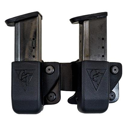 Learn More About Twin Magazine Pouch Belt Clip – Size # 10 Left Side Carry (Right Hand Shooter)