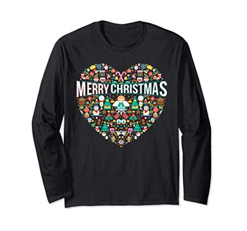 Merry Christmas, Heart, Love, Xmas for men women kids Langarmshirt