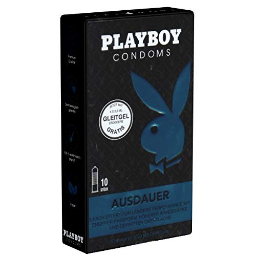 Playboy Ausdauer - 10 preservativi ritardante senza prodotti chimici