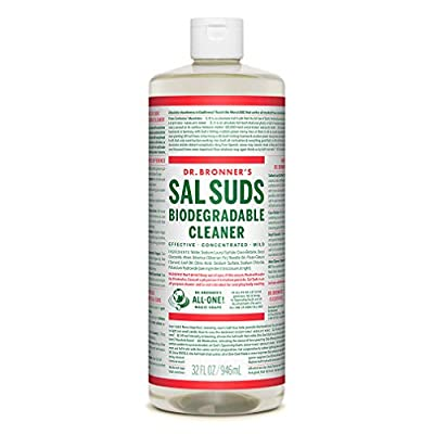 Dr. Bronner's - Sal Suds Biodegradable Cleaner (32 Ounce) - All-Purpose Cleaner, Pine Cleaner for Floors, Laundry and Dishes, Concentrated, Cuts Grease and Dirt, Powerful Cleaner, Gentle on Skin