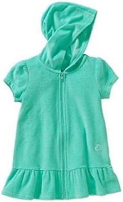 OP Toddler Girl Zip Up Aqua Mint Terry Swimwear Coverup Size 4T