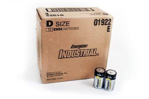 Energizer EN95 Industrial Alkaline Size D 72 Batteries