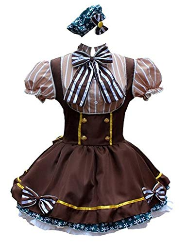 Ainiel Womens Lolita Maid Cosplay Costume Hanayo Koizumi Style Anime Party Dress