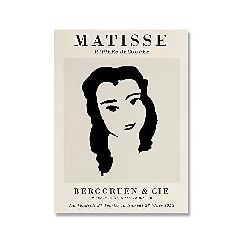 Matisse Art Woman Line Painting Poster Abstract Minimalista Wall Art Print Famoso cuadro moderno Sin marco Pintura en lienzo A2 60x90cm
