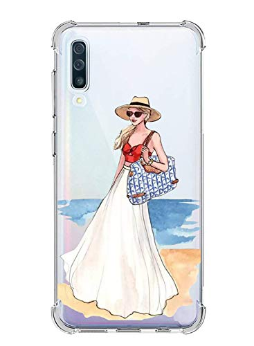 Suhctup Coque Filles Compatible pour Samsung Galaxy J5 Prime 2017,Etui [Antichoc Airbag] Transparent Silicone TPU Souple Mode Motif Crystal Housse Protection Case pour Galaxy J5 Prime 2017,Filles 10