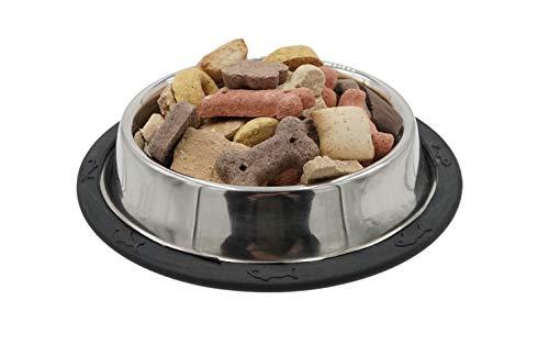 Aime - Cuenco de acero inoxidable para perros y animales de compañía, cuenco antiderrapante de 12 cm para perros