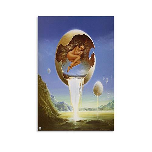 xiaoxian Salvador Dali Gemälde Ei, Leinwand-Kunst-Poster und Wandkunst, Bild, moderner Familienschlafzimmerdekor, Poster, 40 x 60 cm