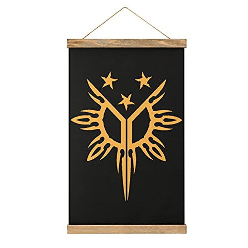 Tribal Filipino Philippines Sun and Stars Flag Canvas Artwork Poster Frame Photo Picture Hanger Wooden Frame Wall Hanging Scrolls and Prints One Size