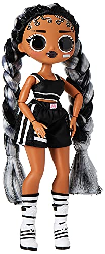 LOL Surprise OMG Dance Dance Dance B-Gurl Fashion Doll with15 Surprises, Designer Clothes, Magic Blacklight, Fashion Accessories, Shoes, Hairbrush, Fashion Doll Stand and TV Package, For Girls Age 4+