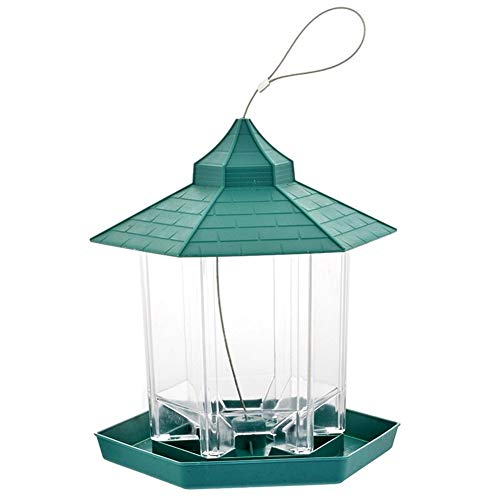 N A Bird feeder, Outdoor Plastic Material Waterproof Food Container Hanging Gazebo, Suitable For Bird Lovers