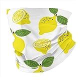 Patrón sin costuras dibujado a mano con amarillo limón para la cabeza, polaina para el cuello, pasamontañas, forro para casco, bufanda casual para hombres y mujeres personalizado