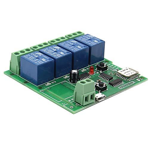 Interruptor de control remoto inteligente inalámbrico universal 4 canales DC 5 V WiFi Interruptor temporizador de teléfono aplicación control remoto apoyo Alexa Voice Control