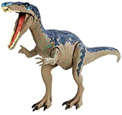 Get ready for dino-mite action and adventure This assortment of dinosaur action figures are inspired by the movie Features push button sound activation Includes a signature attack move iconic to its respective species Collect them all!