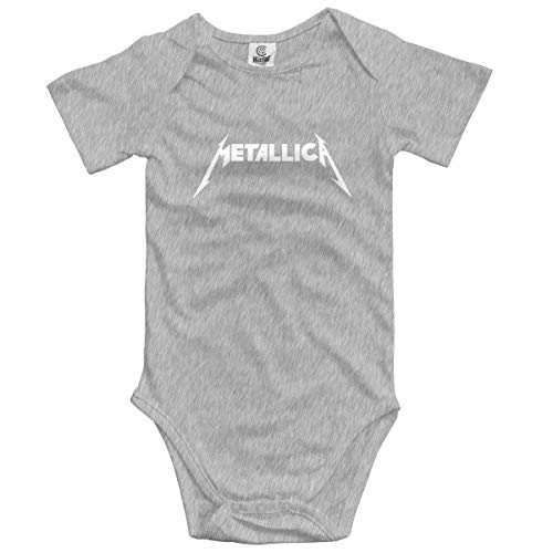 Metallica Band Lovely Baby Boys Girls Manga Corta Onesies Body Fashion Romper Creeper