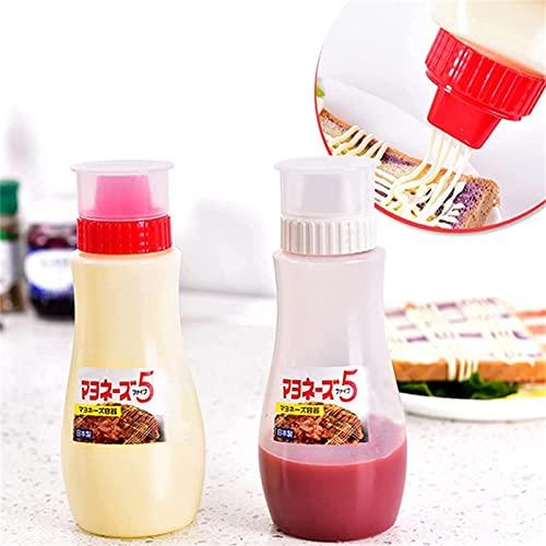 LPOK Bottiglia per Condimento per Insalata Porosa A 5 Fori, Multifunzionale Antipolvere con Coperchio Bottiglie per Salse, Pittura, Olio, Condimenti, Condimento per Insalata 1pcs Rosso+Bianco