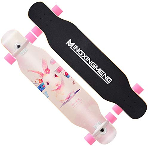 Xiaokang Allighty Longboard Road Four-Wheeled Scooter Youth Boys and Girls Baile Boom Adult Principiantes,D