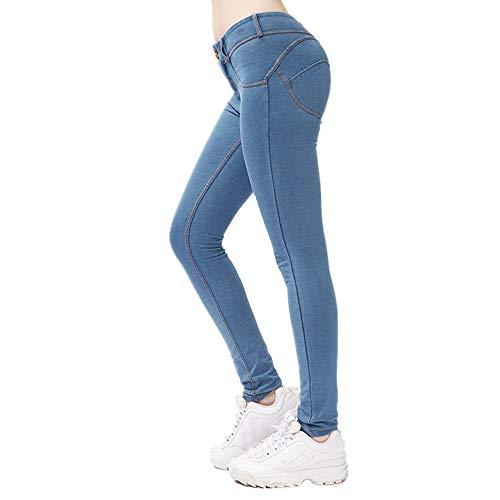 XPDD Damen Stretch Jeans Hose Skinny Jeanshosen Schlank Damenhosen Röhrenjeans Sporthose Leggins Jeans Leggings Denim Yoga Hosen Slim Hosen Damen Leggings Yogahose Sporthose Fitnesshose