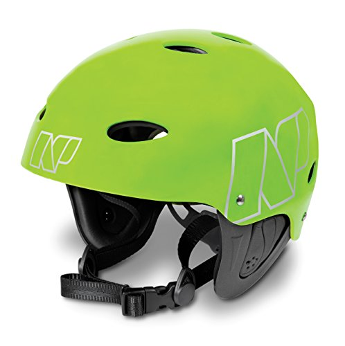 NP Surf Watersports Helmet, Flouro Green Matt, Small