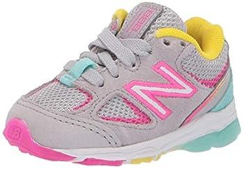 New Balance 888 V2 Lace-Up Running Shoe Grey/Rainbow 13 US Unisex Little Kid