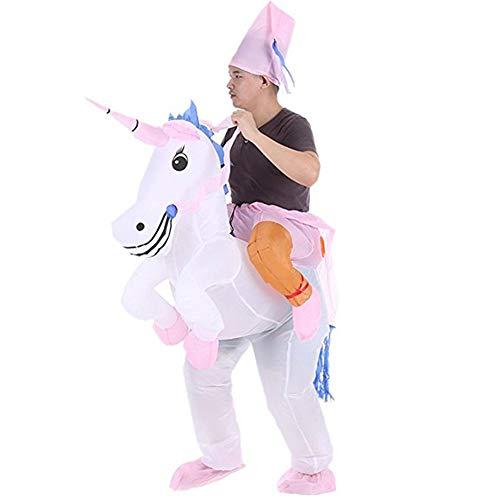Snuter Disfraz inflable de unicornio, disfraz de unicornio para adultos, 1,5 – 1,9 m