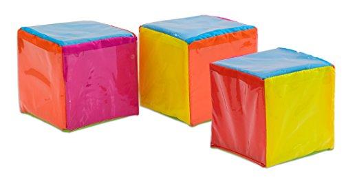 Betzold 85947 - Geschichten-Würfel 3 Stück Kinder zum Selbstgestalten, 15 x 15 x 15 cm - Cube Rechenwürfel Lehrerbedarf