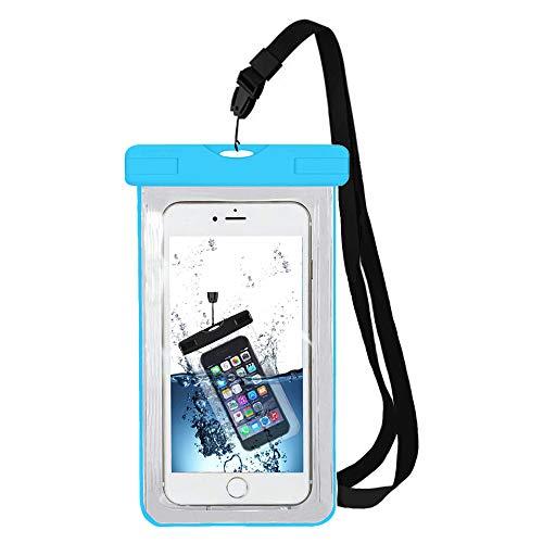MMOBIEL wasserdichte Smartphone Tasche (Blau) Hülle Hülle Einsetzbar für u.A. iPhone X/XR/XS/XS MAX Samsung S9 S8 HTC LG Sony Nokia Motorola bis zu 6 Inch